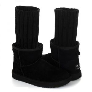 UGG Classic Mini II Sacai Knit - Black