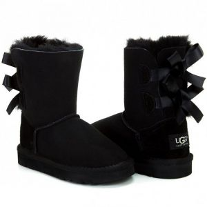 UGG Kids Bailey Bow II Black