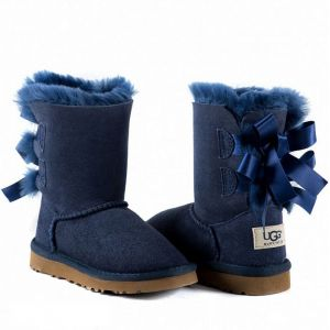 UGG Kids Bailey Bow II Navy