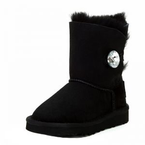 UGG Kids Bailey Button Bling II Black