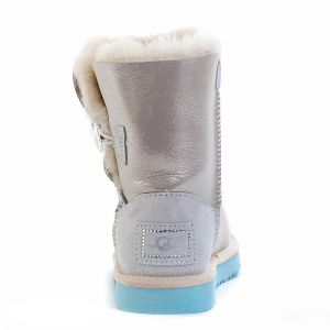 UGG Kids Bailey Button Bling I Do White