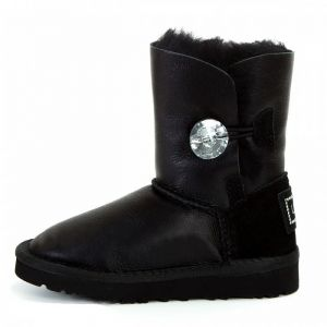 UGG Kids Bailey Button Bling Metallic Black