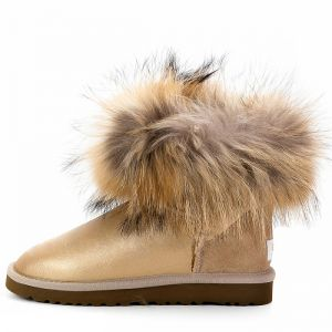 UGG Fox Fur Mini Soft Gold
