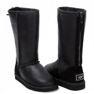 UGG Zip Tall Metallic Black
