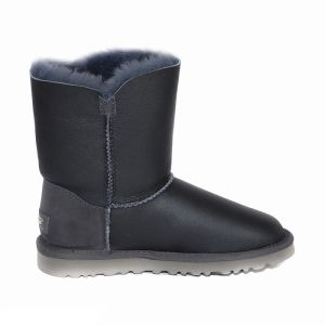 UGG Bailey Button Short Metallic Grey