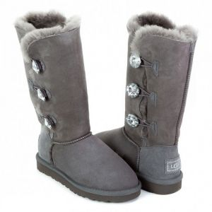 UGG Bailey Button II Triplet  Bling Grey