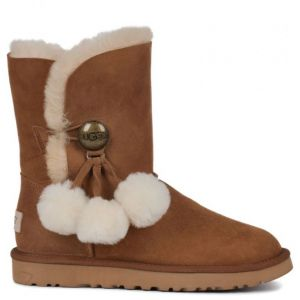 UGG Bailey Button Puff Chestnut