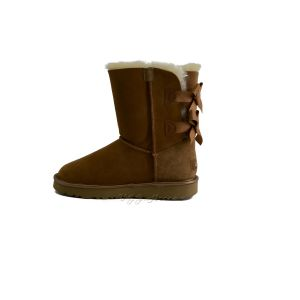 UGG Bailey Bow II Short Metallic Chestnut