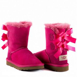 UGG Kids Bailey Bow II Dusty Rose
