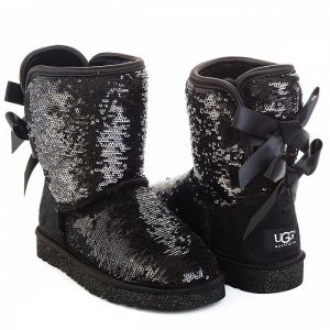 UGG Kids Bailey Bow Sparkles Black
