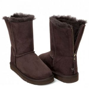 UGG Zip Short II Chocolate