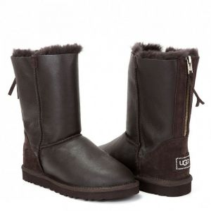 UGG Zip Short Metallic Chocolate