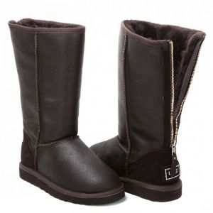 UGG Zip Tall Metallic Chocolate